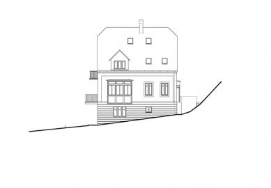Rekonstrukce domu Na Hřebenkách - Pohled severovýchodní