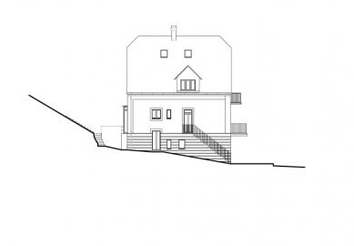 Rekonstrukce domu Na Hřebenkách - Pohled jihozápadní