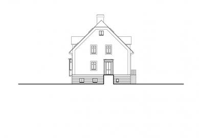 Rekonstrukce domu Na Hřebenkách - Pohled severozápadní