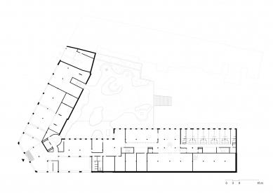 Student House Holešovice - Půdorys 1NP