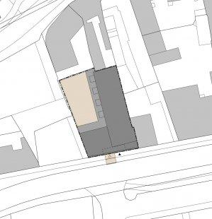 Bytový dům Prostějov 03 - Situace - foto: knesl kynčl architekti