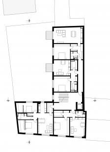 Bytový dům Prostějov 03 - Půdorys 3.np - foto: knesl kynčl architekti