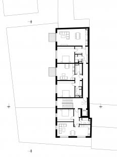Bytový dům Prostějov 03 - Půdorys 5.np - foto: knesl kynčl architekti