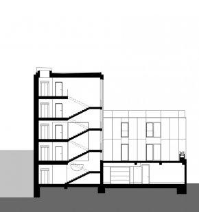 Bytový dům Prostějov 03 - Řez B - foto: knesl kynčl architekti