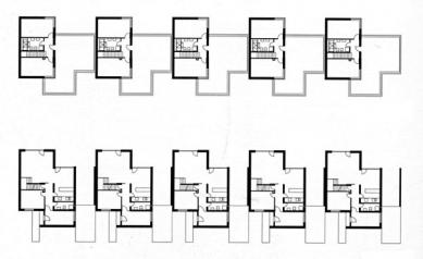 Devět rodinných domů na Červeném kopci - Půdorysy - foto: © ateliér AGP