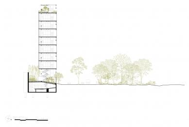 Tower 41  - Řez - foto: Taller de Arquitectura X
