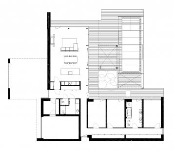 Rodinný dům v Modřanech - Půdorys