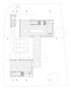 Ateliérový dům v Ratiboři - Půdorys 1NP