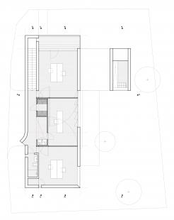 Ateliérový dům v Ratiboři - Půdorys 2NP