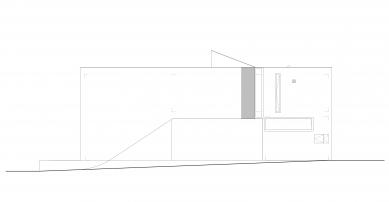 Ateliérový dům v Ratiboři - Pohled západní