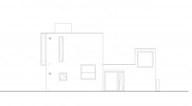 Ateliérový dům v Ratiboři - Pohled jižní