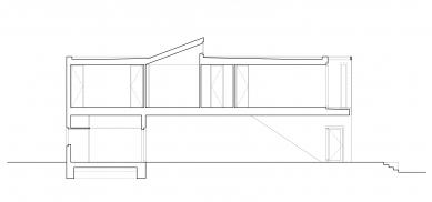 Ateliérový dům v Ratiboři - Řez CC