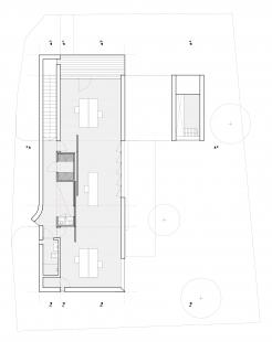 Ateliérový dům v Ratiboři - Půdorys 2NP - varianta B