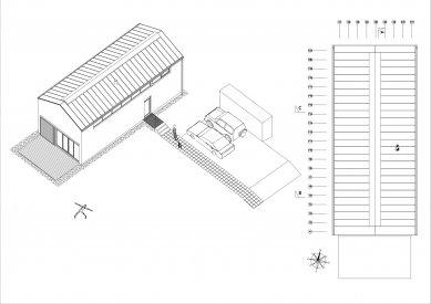 Rodinný dům v Náletu - Axonometrie celku - foto: Archport