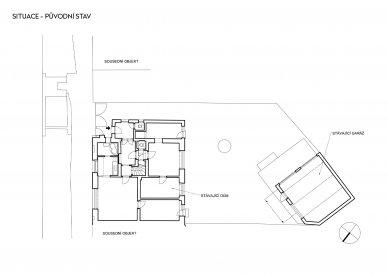 Rekonstrukce rodinného domu v Bohnicích - Situace původního stavu - foto: Archport