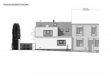 Rekonstrukce rodinného domu v Bohnicích - Severovýchodní pohled - foto: Archport
