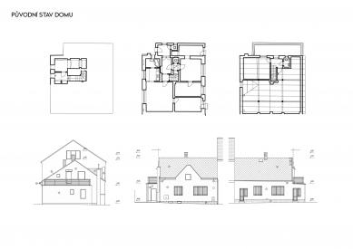 Rekonstrukce rodinného domu v Bohnicích - Výkresy původního stavu - foto: Archport