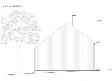 Chata pod třešní - Východní pohled - foto: majo architekti