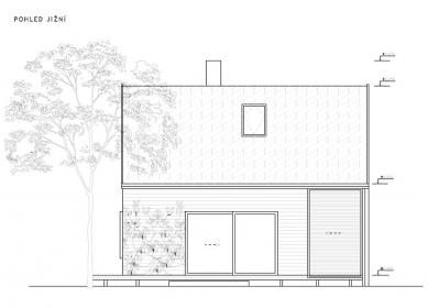 Chata pod třešní - Jižní pohled - foto: majo architekti