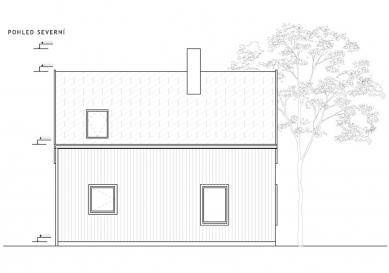 Chata pod třešní - Severní pohled - foto: majo architekti