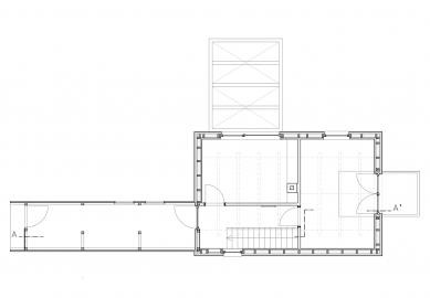 Chata s lávkou - Půdorys 2.np - foto: majo architekti