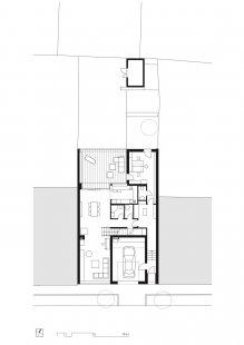Rodinný dům Královo Pole 06 - Půdorys 1.np - foto: knesl kynčl architekti