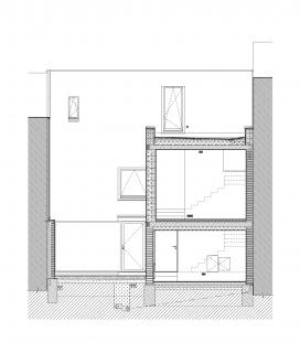 Rodinný dům s ateliérem - Řez