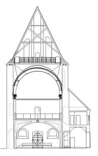 Kostel sv. Anny - Příčný řez - foto: © EJAL / AI - Design