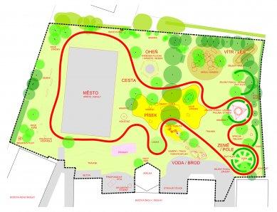 Zahrada základní a mateřské školy v Kolodějích - Situace - foto: Skupina