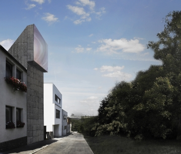 Dům Periskop - Zákres z ulice - foto: Petr Hájek ARCHITEKTI