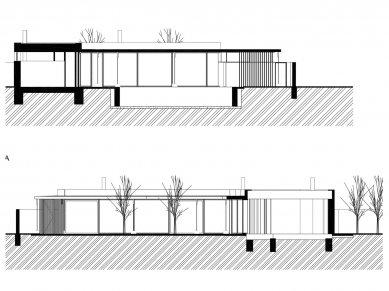 Rodinný dům Jarovce - Řezy - foto: Compass Architekti