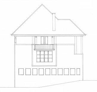 Vila Jeanneret-Perret - Severní pohled