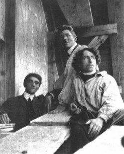 Vila Fallet - Mladý Jeanneret na stavbě Falletova domu