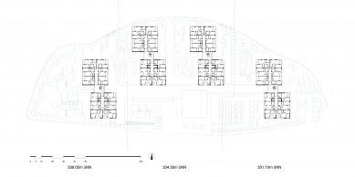Rezidenční domov pro seniory Stuttgart-Killesberg - Půdorys přízemí - foto: Wulf & Partner