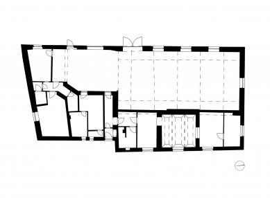 Rekonstrukce bývalé hospody se sálem v Máslovicích - Půdorysy původní stavu - foto: Atelier bod architekti