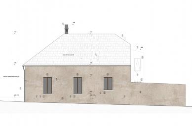 Rekonstrukce bývalé hospody se sálem v Máslovicích - Severní pohled - foto: Atelier bod architekti
