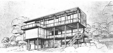 Rekonstrukce Paličkovy vily  - Perspektiva první verze vily Palička
