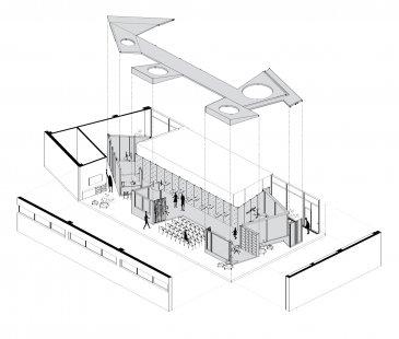 Showroom Schüco - Prostorové schéma
