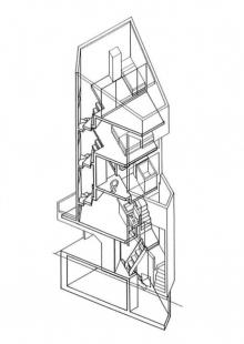 Dům věž v Tokiu - Axonometrie