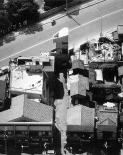 Dům věž v Tokiu - Historický letecký snímek