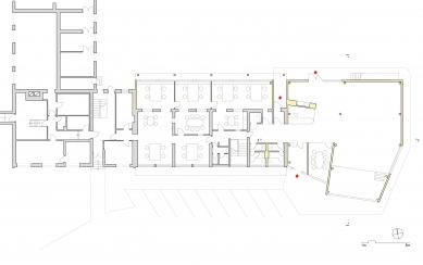 Přístavba administrativní budovy firmy STORY DESIGN v Litomyšli - Půdorys 1NP