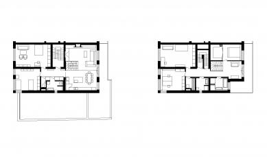 Interiér bytu, Praha-Břevnov - Půdorysy