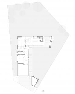 Rodinný dům v Křeslicích - Půdorys 1NP
