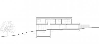 Rodinný dům v Křeslicích - Řez