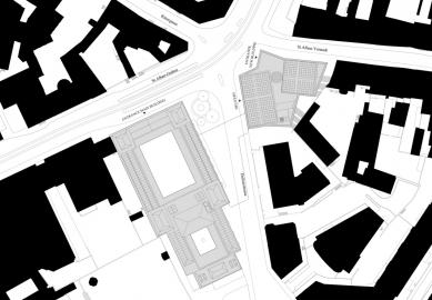 Umělecké muzeum v Basileji - Situace - foto: Christ & Gantenbein Architekten