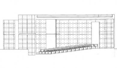 Church of Light  - Podélný řez - foto: Tadao Ando Architects & Associates