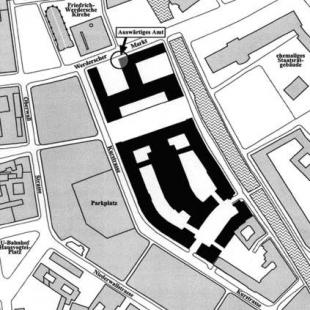 Ministerstvo zahraničních věcí Spolkové republiky Německo - Situace - foto: © Müller Reimann Architekten, Berlín
