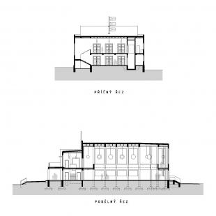 Rekonstrukce pavilonu A - Řezy
