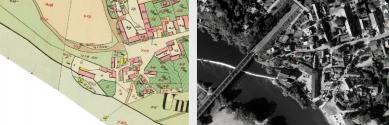 Rodinný dům Černošice - Ortofotomapa a stabilní katastr