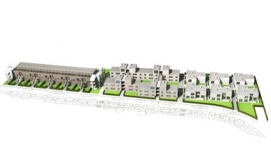 Vícegenerační bydlení Am Mühlgrund - Axonometrie